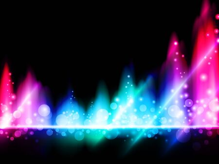 illustration of multicolored bright abstract background Vector