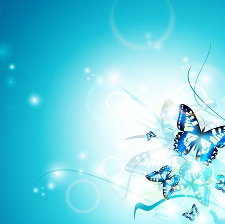 Helle Schmetterling Hintergrund, copyspace für Ihren Text