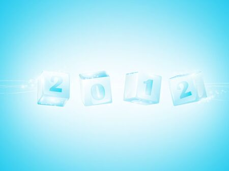 New year 2012 in ice cubes wallpaper Vector