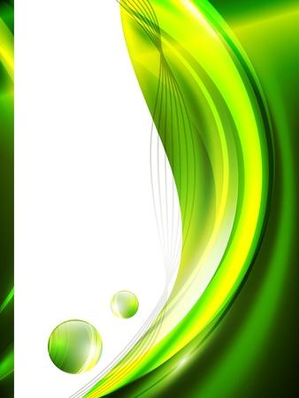 lineas onduladas: Verde marco abstracto, copyspace para el texto