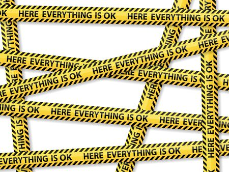 barrier tape: Caution tape concept