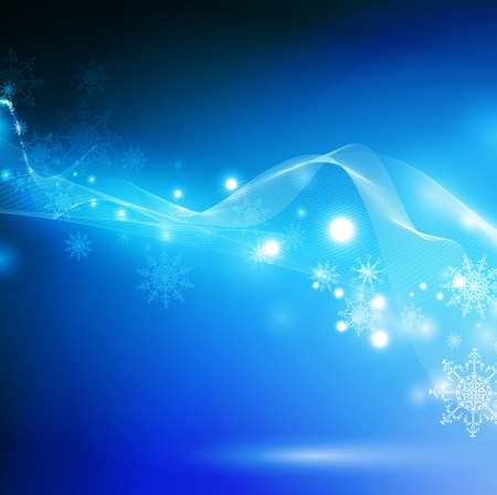 winter abstract background with copyspace for your text Vector