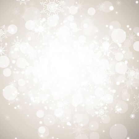 Winter holiday abstract background with snowflakes and copy-space Stock Illustratie