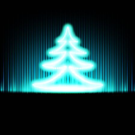 Winter holiday background with abstract Christmas tree Stock Vector - 11141392