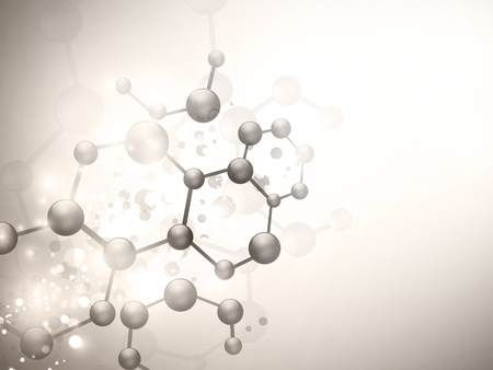 abstract molecule illustration with copyspace for your text