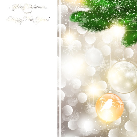 newyear card: New Year and Christmas Greeting card, copyspace for your text