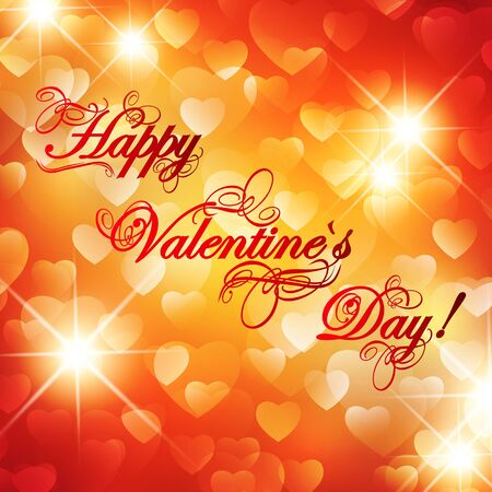 Valentine day background with greetings and stars Vector