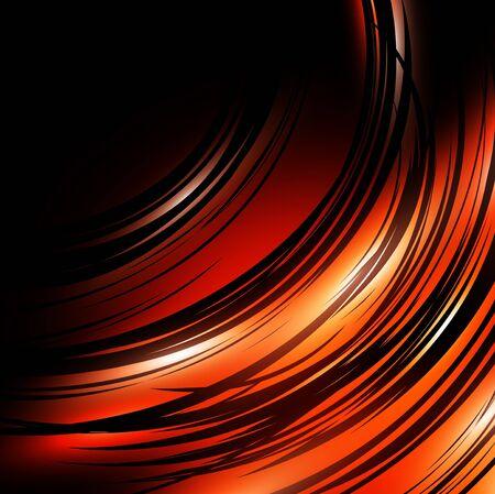blinking: dark abstract background in orange and black