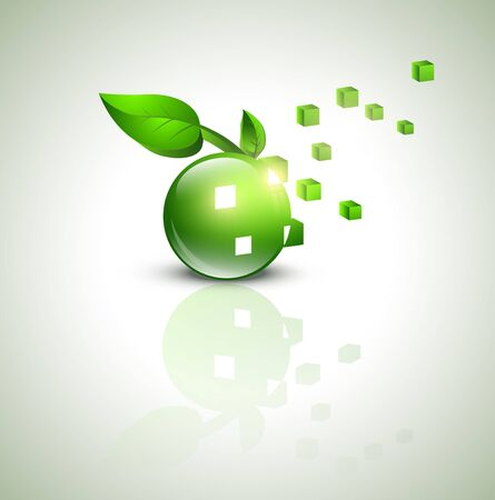 abstract eco green design Vector
