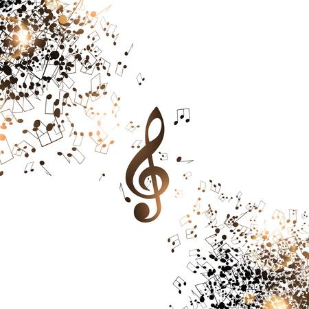 musicality: Sfondo di musica astratta con note e Treble Clef