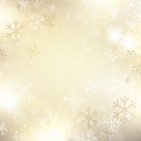 holiday celebrations: Christmas and New Year Holiday Abstract Golden Snowflake