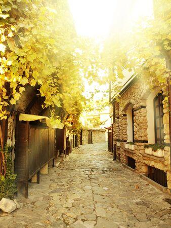 bulgaria: Street in the Old Nessebar Town, Bulgaria