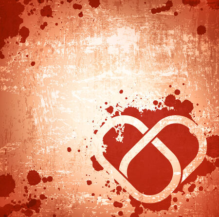 mise en relation: Abstract Grunge Heart Background en couleurs rouges
