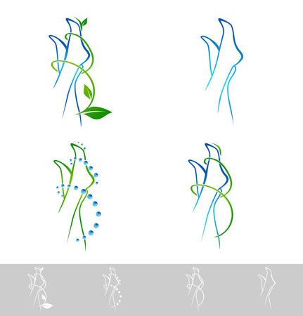 pies: Foot Spa Design Collection Sobre Blanco