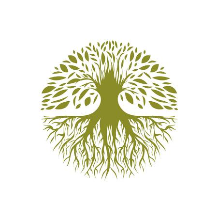Ilustración del árbol abstracto Ronda Foto de archivo - 38935819