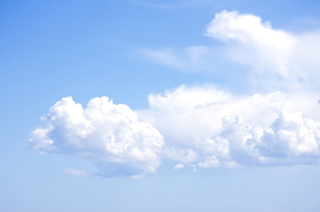 blue cloudy sky: Photo of the Blue Cloudy Sky Background