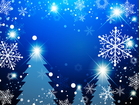 holiday background: Christmas Winter Holiday Abstract Background With Snowflakes