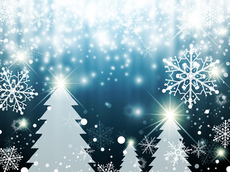 miracles: Christmas Winter Holiday Abstract Background With Snowflakes
