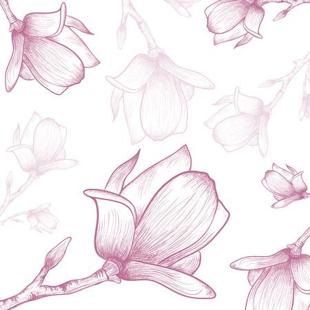 magnolia tree: Magnolia Flower Abstract Vintage Background