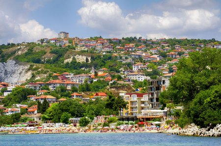 balchik: Balchik Coastal Veiw From Sea, Bulgaria