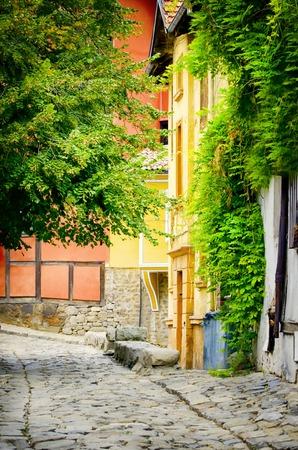 european culture: European Capital of Culture in 2019: Plovdiv Old Town, Bulgaria Stock Photo