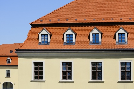 roof windows: Photo of The Modern Red Roof With Windows
