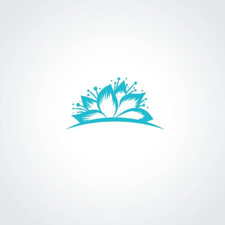 Illustration of Water Lilly Lotus Flower Logo