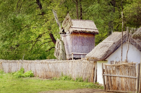 Transylvanian Windmills in the ASTRA, Romania, Ethnographic Museum,Sibiu