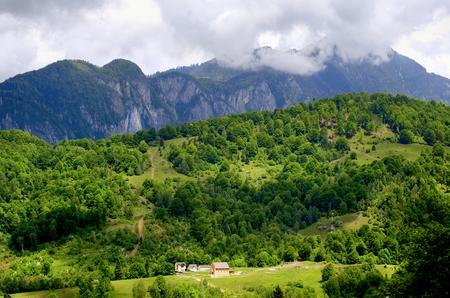 Transilvanya View at Carpathian Mountains, Romania