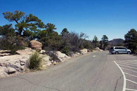 Empty parking lot in the desert of Arizona photo