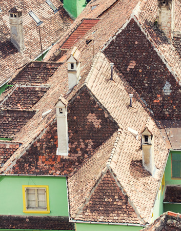 neighbouring: Neighbouring rooftops in a small village from Romania