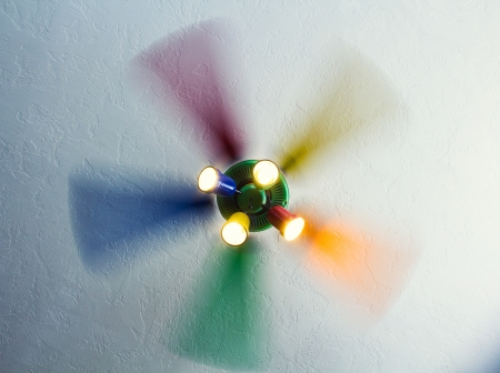 unstoppable: Unstoppable rainbow light fan in motion