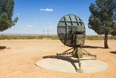 detecting: Military radar used for detecting movement  Placed in the White Sands Missile Range Historical Foundation, America Editorial