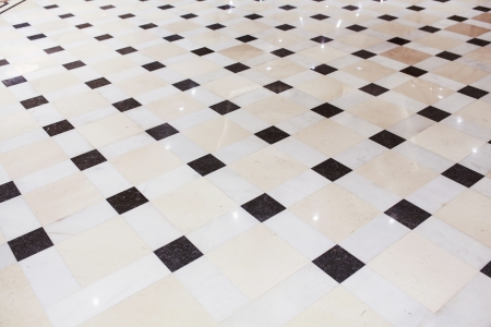 shiny floor: Interior marble pavement with square model