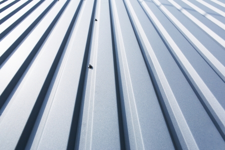Close-up of a grey metal sheet part of a roof Stock Photo - 25248639