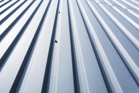 Close-up von einem grauen Blech Teil einer Dach Standard-Bild - 25248639