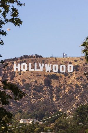Los Angeles, CA, USA - 27th may 2013: View of Hollywood sign located in the hill area of Los Angeles