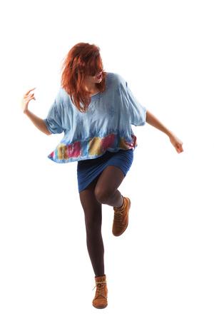 eruptive: Teenager active dancing on rock music