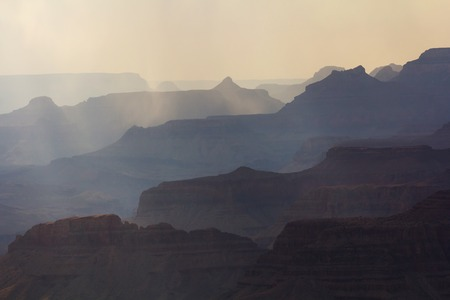 shadowed: Shadowed silhouettes of the Grand Canyon at sunset