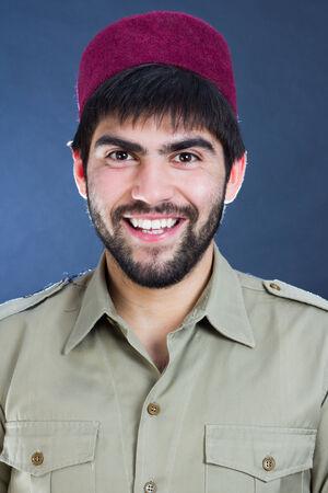 turkish man: Portrait of a bearded turkish man smiling