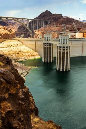 hoover dam: Landscape of the Hoover Dam power station