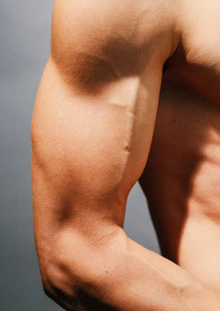 bicep: Tough guy  bicep ,close-up Stock Photo