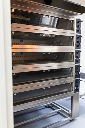 industrial industry: Multi level bakery oven in food factory Stock Photo