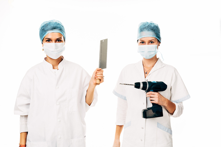 Young nurses preparing for surgery