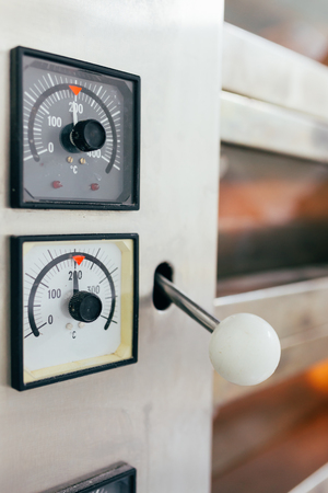 bakery oven: Closeup of control panel of a bakery  oven