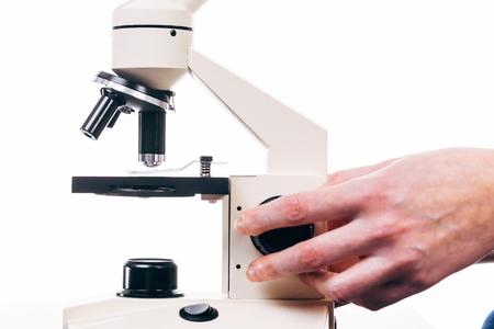 medical laboratory: Professional medical laboratory microscope, close-up Stock Photo