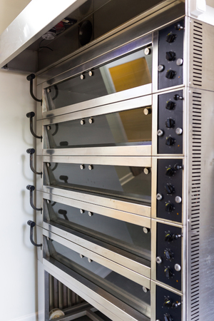 industrial industry: Five  level oven in big bakery