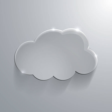 Illustration of Gray eco glossy glass cloud icon Vector