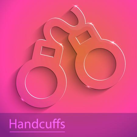 wristlets: Illustration of cuff sign glass icon Illustration