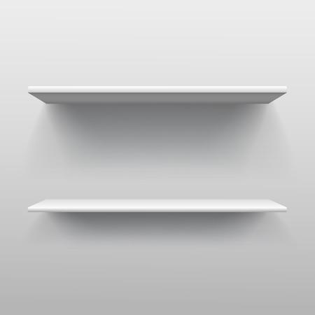 book shelf: Illustration of Realistic double book shelf Illustration